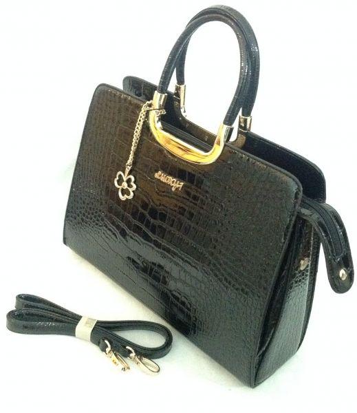 09745e006 Bolsa Feminina Importada Verniz Golden Fenix - BRASIL Imports