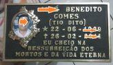Placas de bronze  17x30 com frase,e foto.