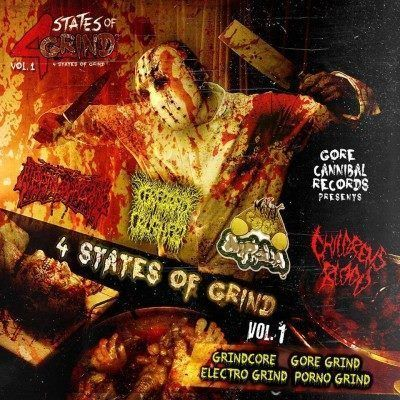 4 States Of Grind Vol 1 – ripping organs/cerebral crusher/monster cock diphalia/childrens blood – 4w