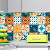 .Adesivo Azulejo Hidráulico Cozinha Cool - Azulejo 080