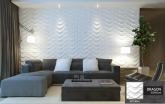 Revestimento Placas Decorativas 3D Board - Fibra de Bambu Original - Dragon