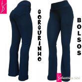 calça plus size azul com bolsos(56/58-60/62),gorgurinho, alta elasticidade