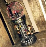 Anjinhos do Renascimento com Bola de Energia de Vidro - 25cm