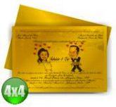 Convite de Casamento - 207 x 147 mm