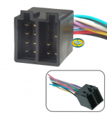 Chicote Conector Som Radio Plug Iso Macho 16 vias - CD4599