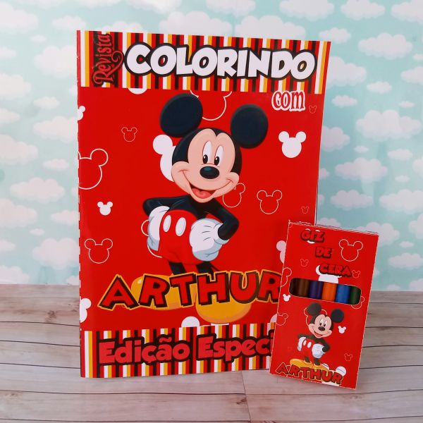 Kit para colorir Mickey