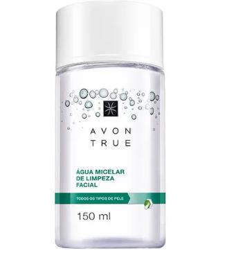 Água micelar de limpeza Facial Avon True 150 ml