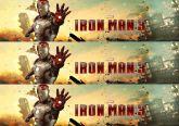 Papel Arroz Homem de Ferro Faixa Lateral A4 008 1un