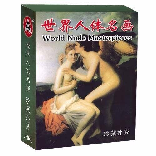 Baralho Nudez Do Mundo Da Arte - Art World Nude Cartas 88mm