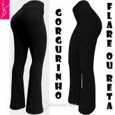 Calça bailarina/flare ou reta, preta (GG-46), cintura alta, tecido gorgurinho ,gramatura alta