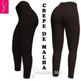 legging marrom cintura alta (36/38), tecido crepe de malha, gramatura média