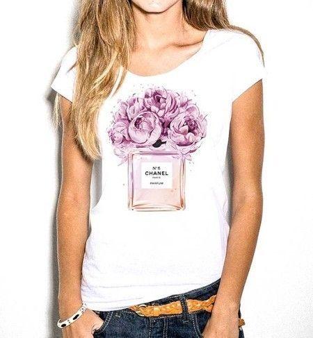 Blusa Chanel Flores