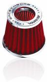 Filtro Esportivo Duplo Fluxo Max Race Chrome Rc031 Vermelho - Cód.RR004