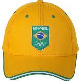 Boné Time Brasil adulto - amarelo e verde