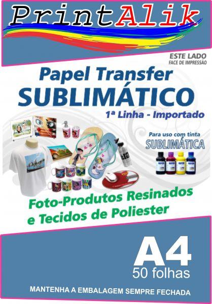 Transfer Sublimático A4 50 Folhas - Printalik Suprimentos Brindes ... 509bd6aed3a