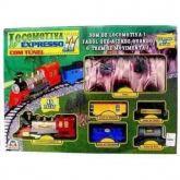 Locomotiva Expresso com túnel
