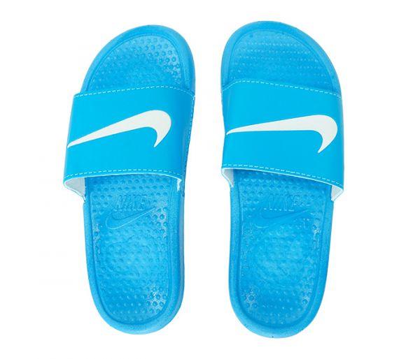 4da5cb0e5d9c0b Chinelo Nike Slide Tira Larga Azul e Branco cod: 22063 - 1001 ...