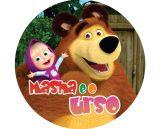 Papel Arroz Masha e o Urso Redondo 006 1un