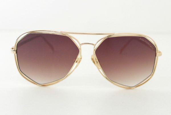 21d03859cb280 Óculos de sol feminino Aviador Dourado Ana Hickmann Inspired - Daf ...