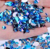 Pedrarias Para Unhas - Mix Modelos Sortidos Azul Claro