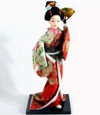 Boneca Decorativa em PVC e Tecido - Gueixa 31 cm