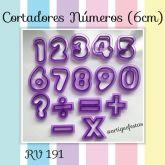 Cortadores Números (6cm)