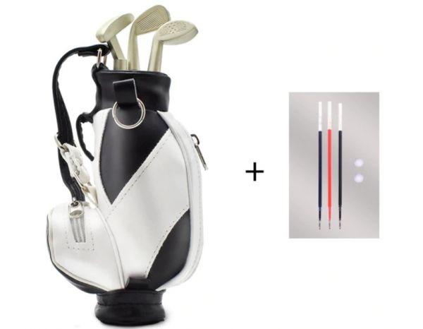 Bolsa De Golf Golfbag Miniatura + 3 Tacos Canetas - 13cm