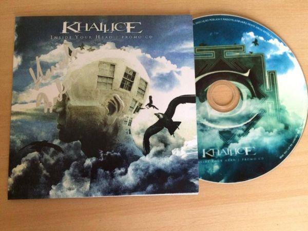 CD Khallice - Inside your head - AUTOGRAFADO - Envelope