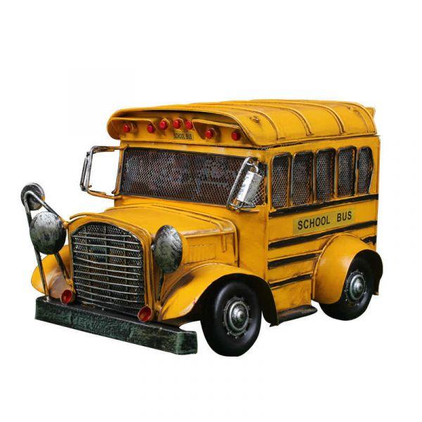 Ônibus de Ferro Escolar com Caixa Organizadora 30cm