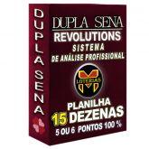 Planilha DUPLA SENA, aposte com 15 dezenas em 277 jogos 5 ou 6 pontos 100%.