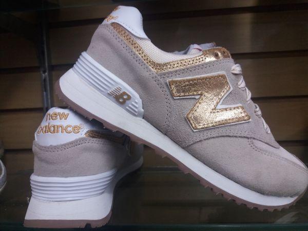 88deea546f3 Tenis Feminino New Balance MI 574 Dourado Caminhada Novo - Erdora ...