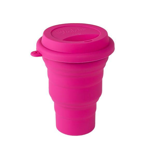 Copo de silicone retrátil para higienizar 480ml - Violeta Cup