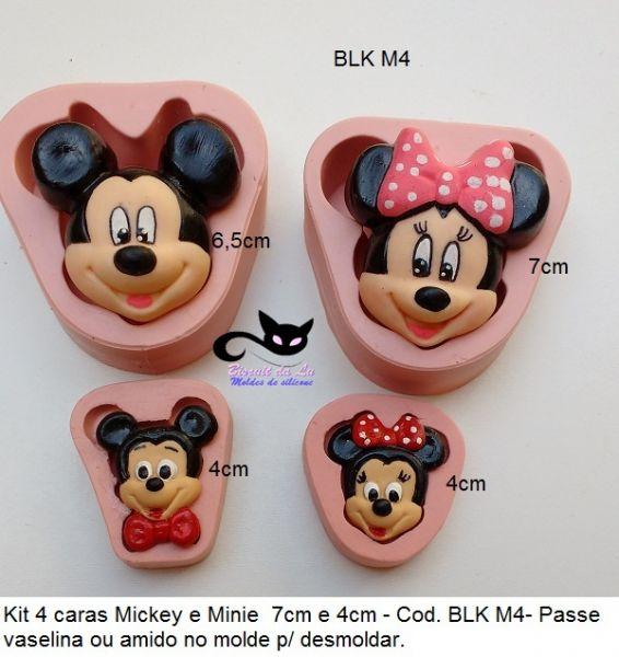 Kit  4 caras Mickey & Minnie