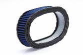 Filtro de Ar Esportivo Oval Race Chrome Para Carburador - Azul - Cód. RR041