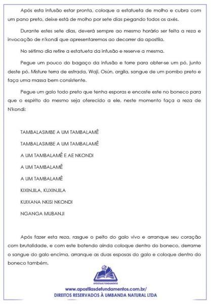 APOSTILA ASSENTAMENTO DE NKONDI  (VINGADOR DO ANGOLA)