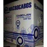 Cabo De Rede Cat5e Preto Macrocabos Utp Lan Caixa 305 Metros
