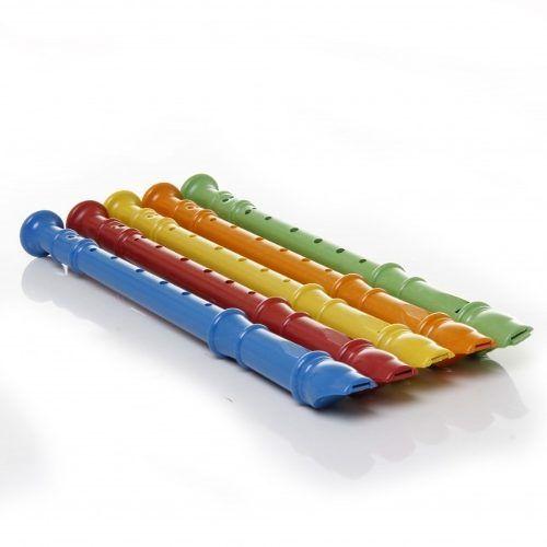 Kit 5 Flautas De Brinquedo Crianças Cores Doce Infantil