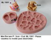 Molde silicone Mini Pet c/ 02 tam P