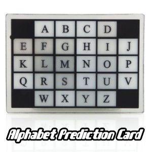 Alphabet prediction (previsao do alfabeto)  #1379