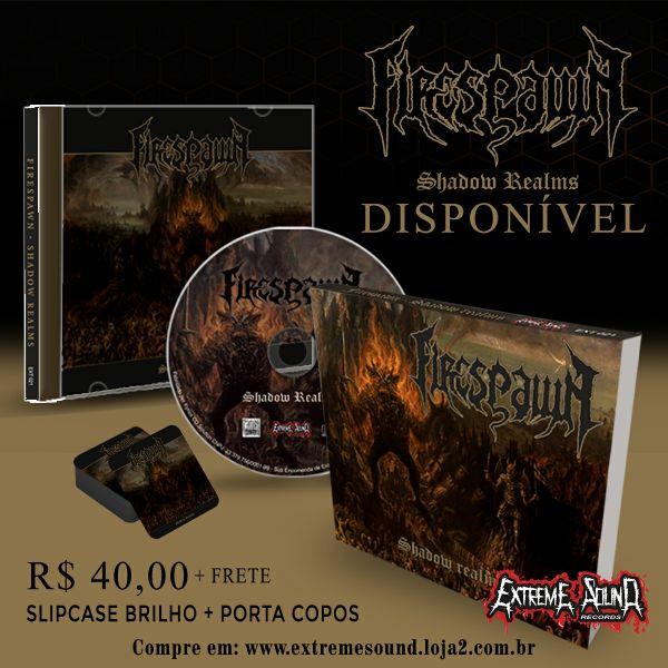 - CD Firespawn - Shadow Realms (Slipcase Brilho+pôster+Porta Copos)