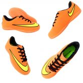 d6c518d4ba87b Chuteira Futsal Infantil Nike Victory 5 Laranja e Amarelo