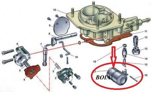 Boia Carburador Simples  Ano 90/91/92 Laika(Novo)Ref.0493