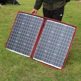 ::PAINEL SOLAR  FOTOVOLTAICO Dokio 100w 12v flexível e dobrável e portátil -para acampar, barco, etc