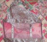 Bolsa praia oncinha rosa 2 x 1