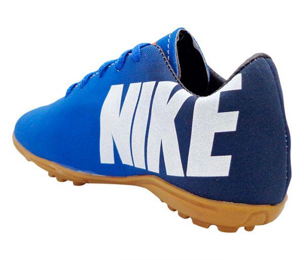 87f50e4466 Chuteira Infantil Society Nike Mercurial Preta e Azul Marinho - App Box