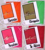 Kit 1 com cartões artesanais texturizados