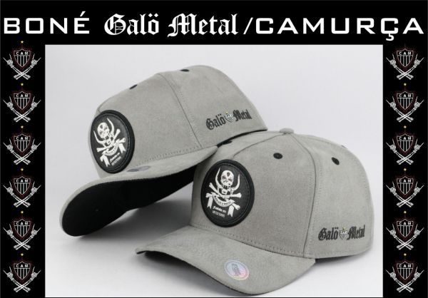 Galo Metal - Boné Cinza