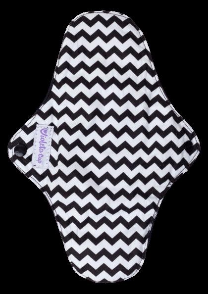 Kit Absorventes Reutilizáveis Violeta Cup - Zig-Zag + bolsinha