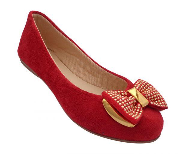 462d72eee9 Sapatilha Feminina Ficare Vermelha - JL Calçados