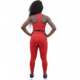 Top Nadador de Compressão Liso Vermelho - Emana